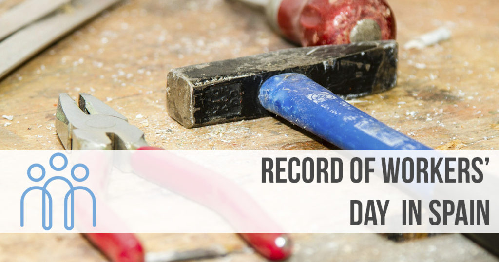 Record of worker's day in Spain